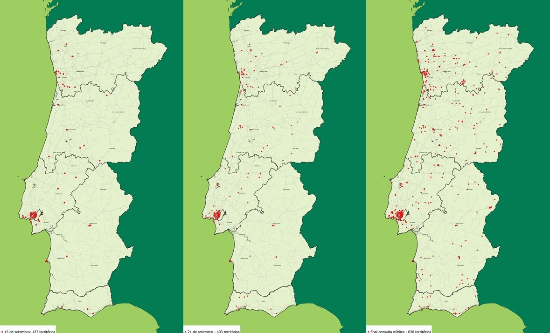 https://www.bairrossaudaveis.gov.pt/uploads/Entre 15 e 27 de setembro, passou-se de 127 a 820 territórios identificados pelos cidadãos
